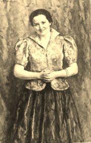 Portret pani Hel-Karbazkiej-spiewaczki / olejny # 6