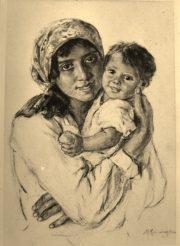 cyganka z dzieckiem