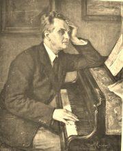Portret Prof Friman pianista / olejny