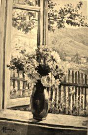 Kwiaty i widok